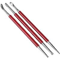 3PCS Cuir Presse Rub Outils Outils De Modélisation En Cuir Outils D'artisanat Cuillère Outils de gravure sur cuir