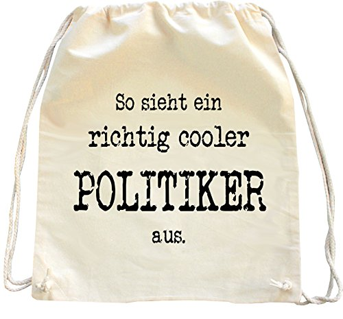 Mister Merchandise Turnbeutel natur Rucksack Politiker , Farbe: Natur
