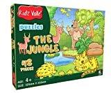 #2: Kidz Valle The Jungle 48 Pieces Tiling Puzzles ( Jigsaw Puzzles , Puzzles for Kids, Floor Puzzles ), Puzzles for Kids Age 4 Years and Above. Size: 32.5 cm X 23.5 cm