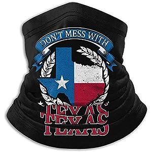 Merle House Neck Warmer Gaiter Leg dich nicht mit Texas Soft Microfiber Headwear Face Scarf Mask an
