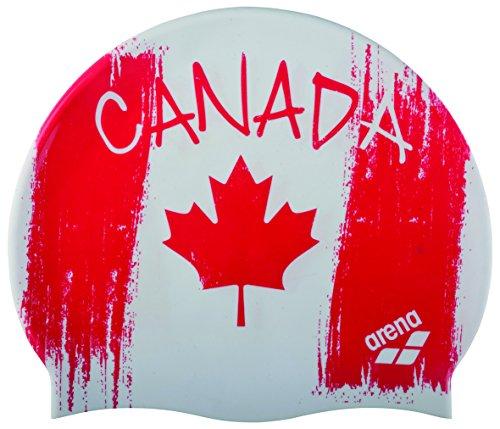Arena Silicona Print 2 Gorro de Natación, Hombre, Multicolor (Flag / Canada), UNI
