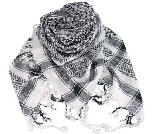 Harrys-Collection PLO Tuch in 20 Farben 100% Baumwolle dick, Farben:weiss-schwarz