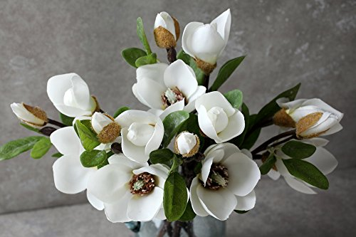 Decorazioni Natalizie Con Foglie Di Magnolia.La Jolie Muse Bouquet Fiori Artificiali Composizione Di