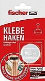 Fischer 545950 Klebe, 1x Komplettset mit Haken und Klebstoff, inklusive Reinigungstuch, Rot, Weiß