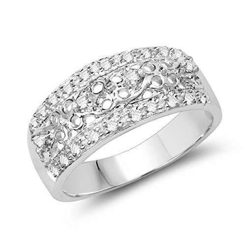 Johareez BridalMe 0.44CTW White Cubic Zirconia .925 Sterling Silver Ring