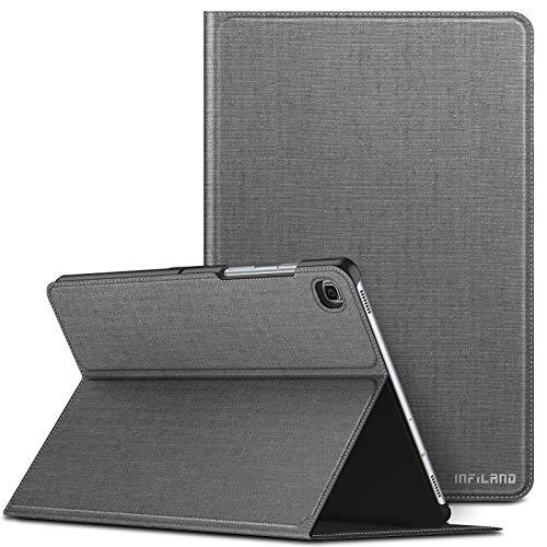 Infiland Custodia Protettiva per Samsung Galaxy Tab S5e 10,5 Pollice 2019 Versione (T720/T725)-Automatica Svegliati/Sonno Funzione-Cover Stile Supporto Anteriore Leggero-Grigio