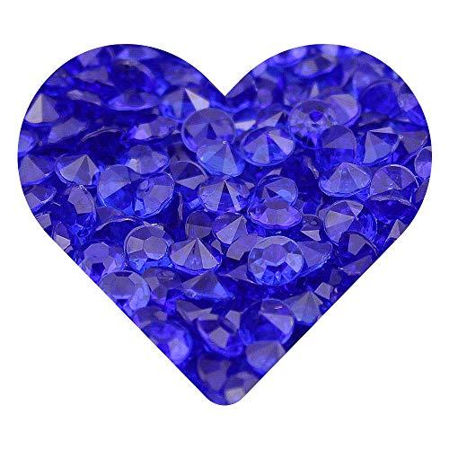Streudeko   Zum dekorieren aus Kunststoff, 6 mm als Dekoration für Hochzeiten, Geburtstage & andere Festlichkeiten   Handgearbeitete Diamonds [Royal-Blau, 500 Stück] ()