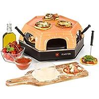 Klarstein Capricciosa Horno para 6 personas • Horno para pizzas • Eléctrico • 1500 W • Cocción en 5-7 minutos • Cubierta de terracota • Conserva el calor • Negro