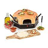 Klarstein Capricciosa • Pizzaofen für 6 Personen • Pizzadom • elektrisch • 1500 Watt • 5-7 Min. Backzeit • Terracotta-Abdeckung • Warmhaltefunktion • schwarz