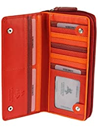 Visconti X Large Multi Colour Real Leather Purse / Wallet For Ladies Women - RB55