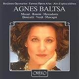 Agnes Baltsa chante Rossini, Mozart, Mercadante : Airs d'opéras. Baltsa, Wallberg.
