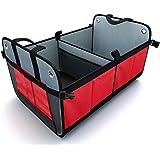 Kofferraum Organizer, Kofferraumtasche faltbare große Einkaufstasche mit Transport-Tragegriffen, Kofferraum Falttasche rutschfest mit untere Stütze und stabilem Boden, net. 1,88kg, hochwertig
