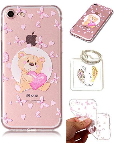 iPhone 7G étui de téléphone mobile / TPU protection transparente cas de téléphone de bande dessinée Apple iPhone 7G (4,7 pouces)couvercle transparent - porte-clés cadre (* / 24) (1)