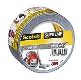 Scotch 4101S25 Gewebeband universal Supreme, extra stark klebend, 48 mm x 25 m, grau