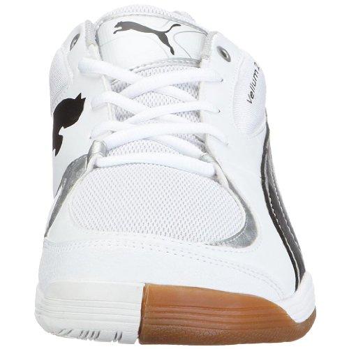 PUMA Vellum II, Scarpe sportive indoor uomo bianco (Weiss/White-Black-Puma Silver)