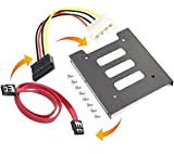 #7: Bracket mounting kit 2.5 inch to 3.5 inch SSD / HDD metal tray hard drive holder Compatible SATAI SATAII SATAIII (Bracket -250)