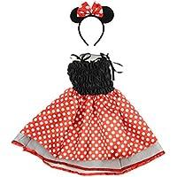BESTOYARD Kleinkind Mädchen Polka Dots Party Kostüme Prinzessin Kostüm Outfits mit Maus Ohren Stirnband
