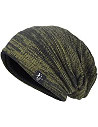dae0e56737e VECRY Mens Slouchy Knit Oversized Beanie Skull Caps Artistic Hats