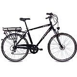 CHRISSON 28″ Zoll CITYRAD ALU Fahrrad E-Bike PEDELEC E-Gent mit 7G Shimano Schwarz 53cm- 71,1 cm (28 Zoll) - 2