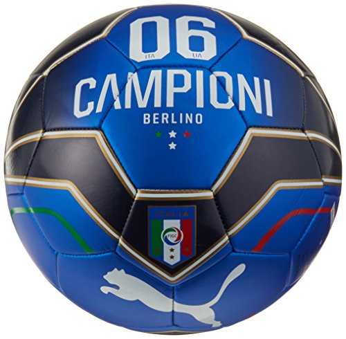 Puma Italia Fan-Pallone da calcio taglia 5, colore: blu