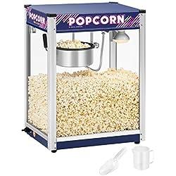 Royal Catering RCPR-1350 Machine a Popcorn Professionnelle (1350 W, env. 5 kg/h, Revêtement Téflon)