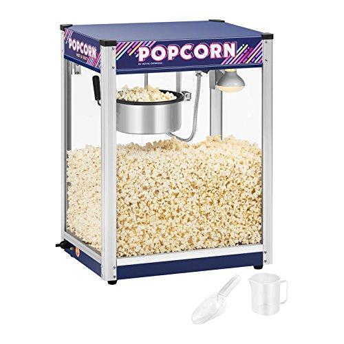 Royal Catering Popcornmaschine Popcornmaker RCPR-1350 (1.350 W, Arbeitsleistung 5 kg/h, Zubereitungszeit 110 s, Teflonbeschichtung, max. Kapazität Kessel 1.350 ml)