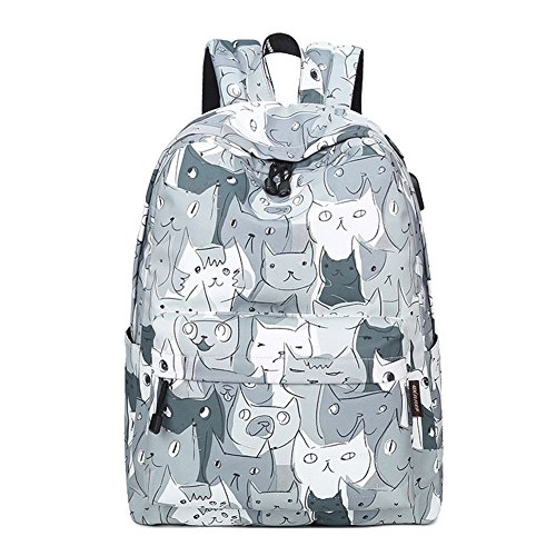 artone-cartoon-cat-big-capacity-backpack-school-daypack-with-headphone-hole-usb-charging-port-laptop