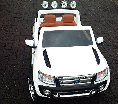 RC Auto kaufen Kinderauto Bild 2: SL Lifestyle Kinderauto Elektro Ford Ranger Vollausstattung R/C Weiss - Mit großem 12V/10Ah Akku 2 Motoren; Kinderautos elektrisch mit original Lizenz*