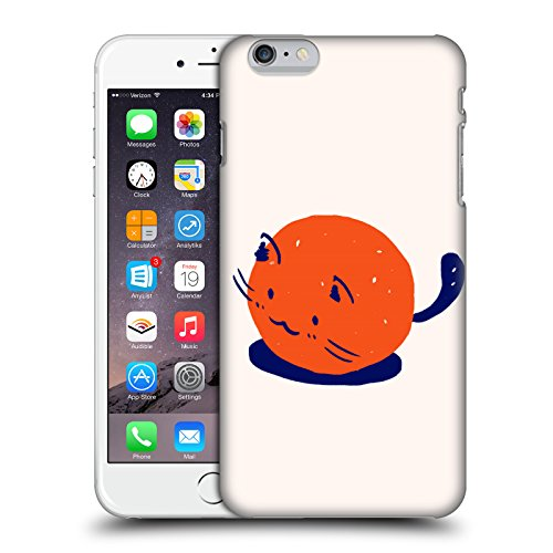 Officiel Kitten Rain Trompette Chats Étui Coque D'Arrière Rigide Pour Apple iPhone 6 Plus / 6s Plus Orange