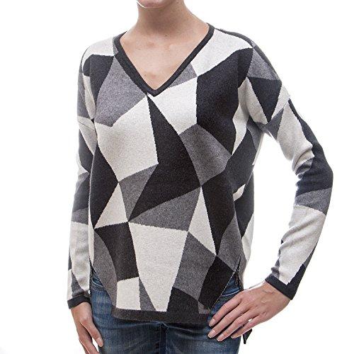 khujo -  Maglione  - Felpa  - Donna E09 block pattern XL
