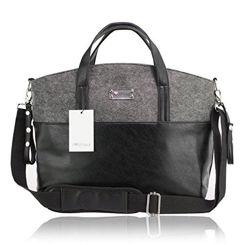 Herzmutter Multifunktionale, geräumige Wickeltasche, große, moderne Kinderwagentasche inklusive...