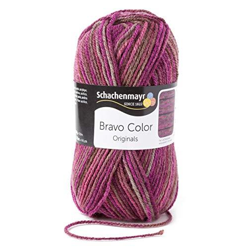 Schachenmayr Bravo Color 9801421-02088 beere Handstrickgarn, Häkelgarn