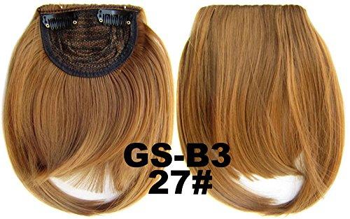 # 27 100% fibre synthétique haute température Clip dans/sur cheveux avant frange frange cheveux