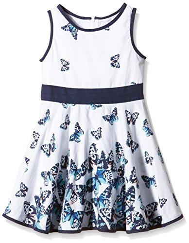 Happy Girls Mädchen Kleid mit süßen Schmetterlingen, All Over Print, Gr. 134, Mehrfarbig (Navy 62)