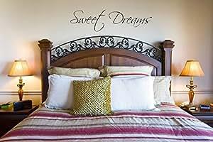 Juko Sweet Dreams wall sticker decal bedroom wall art. Brown