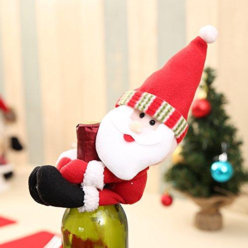 xiaolanwelc @ 1Weihnachten Flasche Sets Santa Claus Wein Flasche Schutzhülle Halterungen Geschenk Taschen Home Decor Hochzeit Weihnachten Party Dekoration Supplies Santa Claus