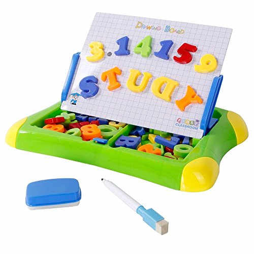 2-In-1 Educational Drawing Board Toys With Magnetic Letters And Numbers / Toys Game Play Kids Childrens Child Toddler Baby Cool Activity Educational Creative Fun Special Unique Devlopment Developmental Friends Boys Girls Present Latest Newest Learning Outdoor Indoor Room Home House Easy Coolest Hands Smart Motoric Classic Constructions Preschool Popular Large Little Small Big