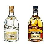 Pascall La Vieille Mirabelle Obstbrand, 1er Pack (1 x 700 ml) + La Vieille Prune alter französischer Pflaumenbrand, 1er Pack (1 x 700 ml)