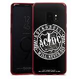 DeinDesign Samsung Galaxy S9 Slim Case transparent rot Silikon Hülle Schutzhülle ACDC Merchandise Rock & Roll