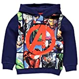 Marvel, - Sweat-shirt à capuche - Sweat à capuche - Garçon bleu Blue/Graphic - bleu - Medium