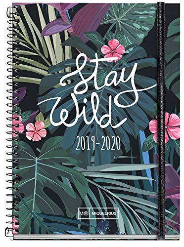Miquelrius agenda escolar con espiral 19/20 día página stay wild español...