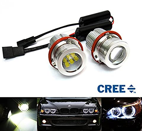 2x Luffy LED Angel Eye Halo Leuchtmittel Weiß 90W