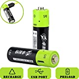 Best Usb Rechargeable Batteries - SOEKAVIA 1.5V AA Battery Rechargeable Lithium 1250mAh, USB Review