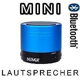 DENVER BTS-20 Portabler Bluetooth Lautsprecher blau
