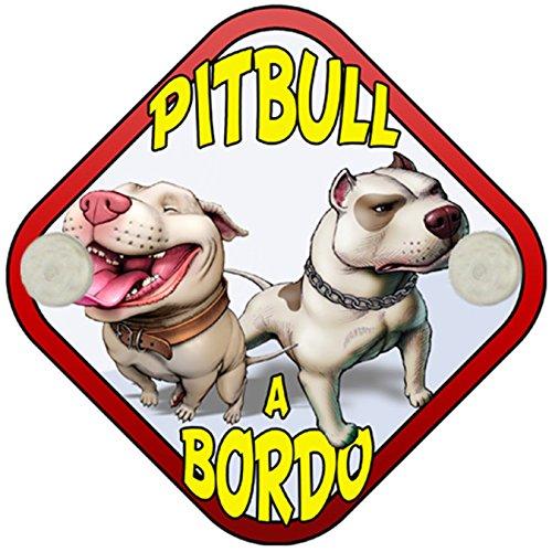 Placa bebé a bordo Pitbull a bordo perro a bordo