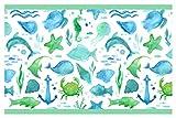 I-love-Wandtattoo Kinderzimmer Bordüre Borte Unterwasserwelt Fische Schildkröten selbstklebend