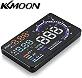 """KKmoon 5.5"""" Large Screen Auto Car HUD Head Up Display KM/h & MPH Speeding Warning Windshield Project System with OBD2 Interface Plug & Play"""