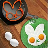 Colossy Cute Silicone Little Bunny Fried Egg Makers Little Rabbit Egg Molds Egg Tools Ktchen Tools