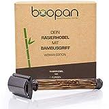 boopan® Premium RASIERHOBEL DAMEN mit Griff aus Bambus nachhaltig inkl. 5...