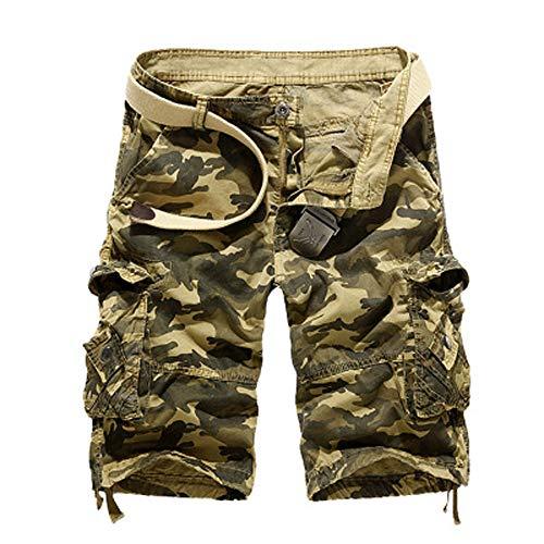 Beonzale Herren Sweat Shorts Kurze Hose Jeans Bermuda Denim Sweatpants Cargo Jogging Jeans Vintage Cargo Shorts